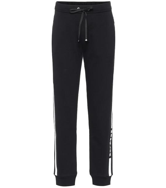 Moncler Logo cotton-blend sweatpants in black