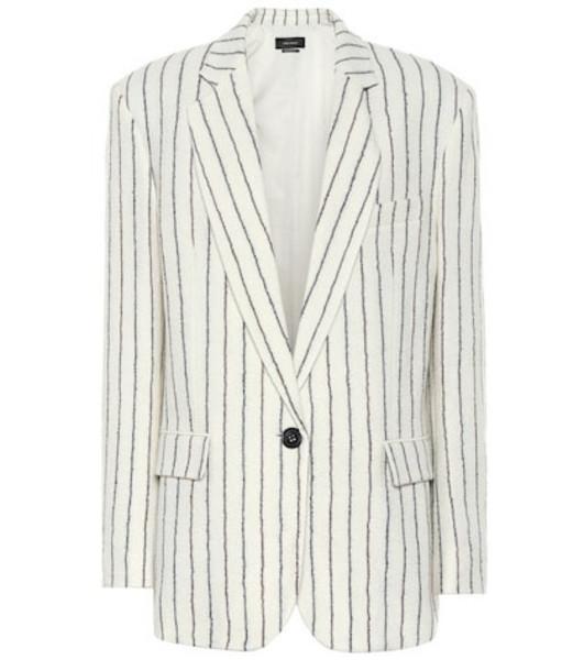 Isabel Marant Elder wool and linen blazer in white