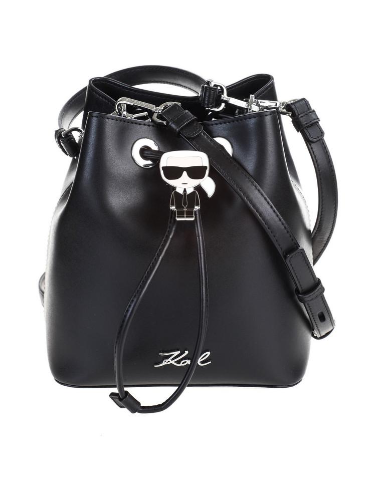 Karl Lagerfeld K / IKONIK bucket bag in nero