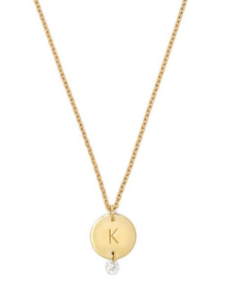 Raphaele Canot - Set Free 18kt Gold & Diamond K Charm Necklace - Womens - Gold