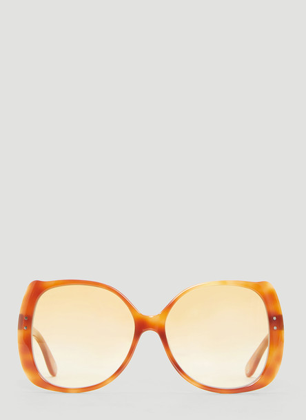 Gucci Oversized Rounded Square Frame Sunglasses in Brown size One Size