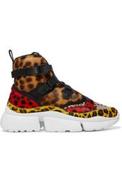 hair,high,sneakers,print,leopard print,shoes