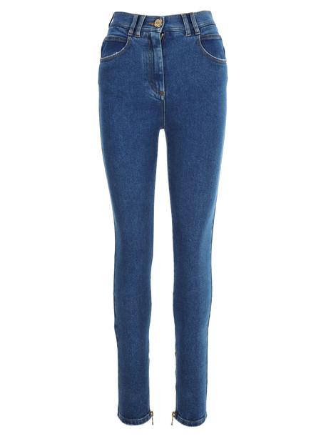 Balmain High-waist Skinny Jeans in blue