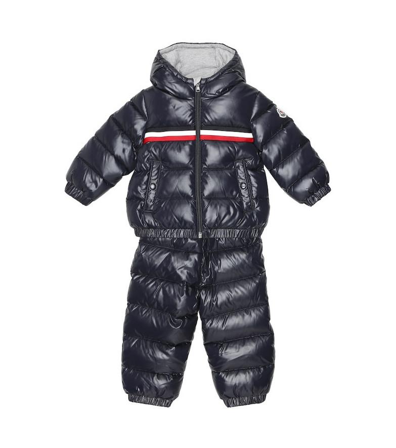 Moncler Enfant Baby Layak down jacket and salopettes set in blue