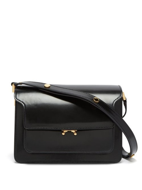 Marni - Trunk Medium Leather Shoulder Bag - Womens - Black