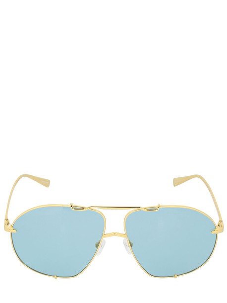 THE ATTICO Mina Oversize Aviator Sunglasses in blue / gold