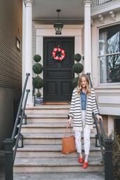 kelly in the city - a preppy chicago life,style and fashion blog,blogger,cardigan,jeans,shirt,bag