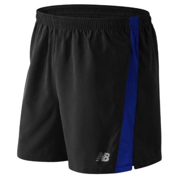 New Balance 61073 Men's Accelerate 5 Inch Short - Black/Blue (MS61073MIB)