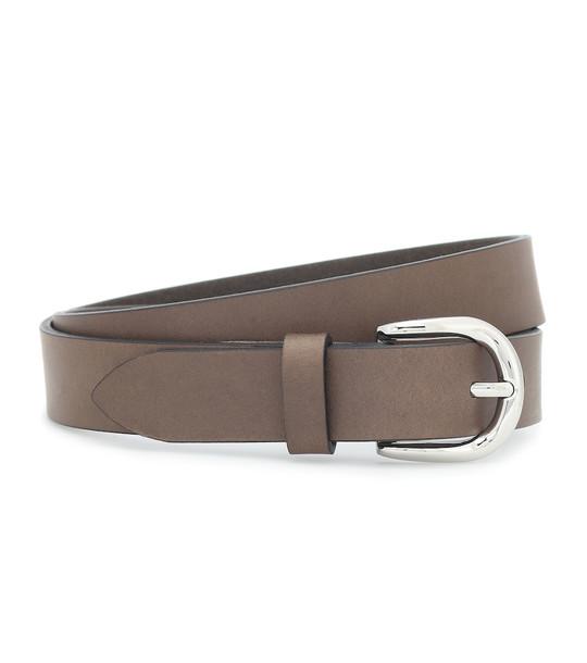 Isabel Marant Zap leather belt in brown