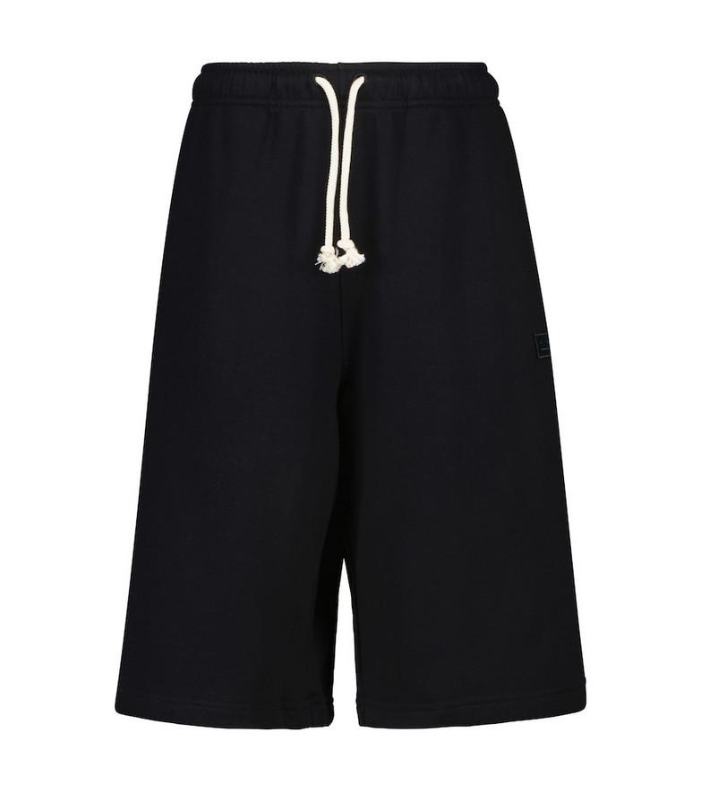 Acne Studios Cotton jersey shorts in black