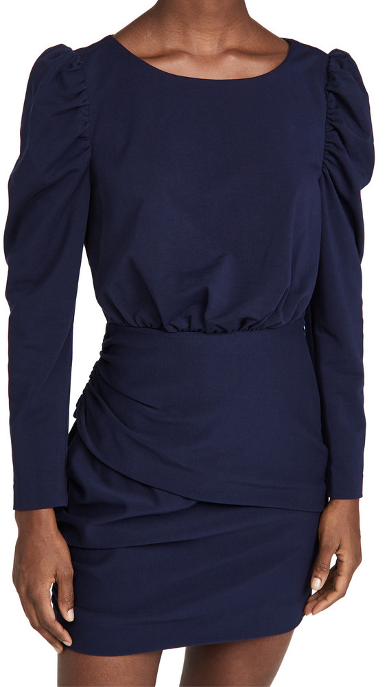 La Vie Rebecca Taylor French Terry Dress in navy