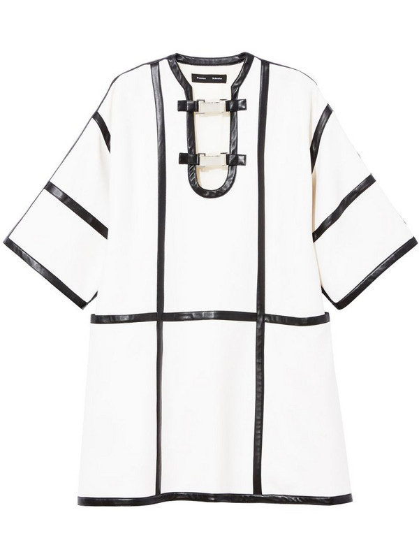 Proenza Schouler leather trimmed dress in white
