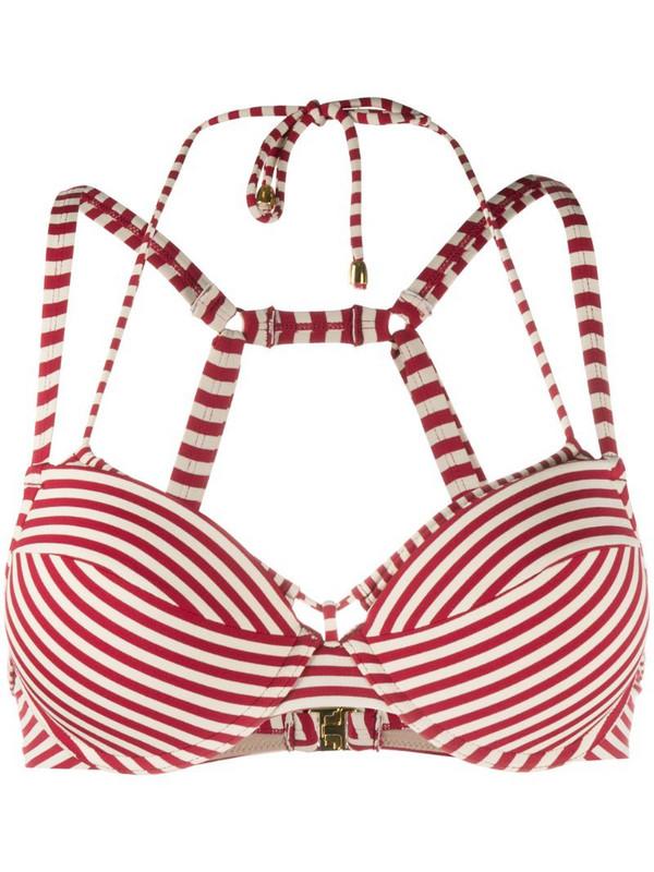 Marlies Dekkers striped push-up bikini top in red