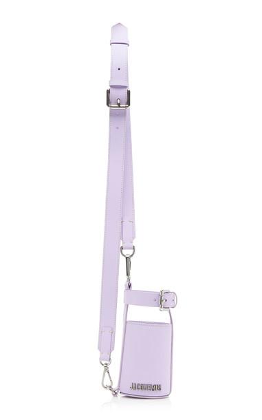 Jacquemus Le Porte Gourde Leather Shoulder Bag in purple