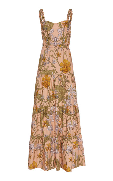 Johanna Ortiz Reflect Beauty Floral Printed Maxi Dress Size: 0 in print