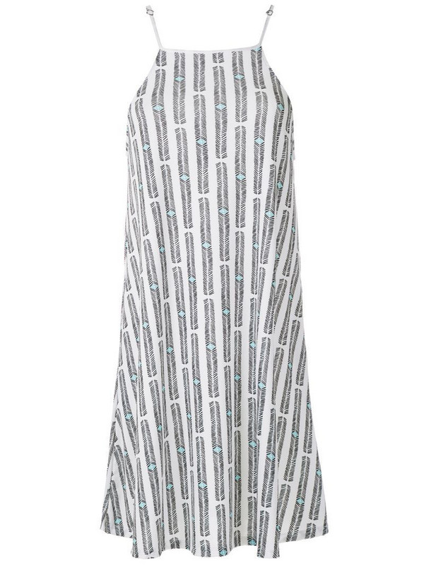 Lygia & Nanny Isis printed jersey dress in white