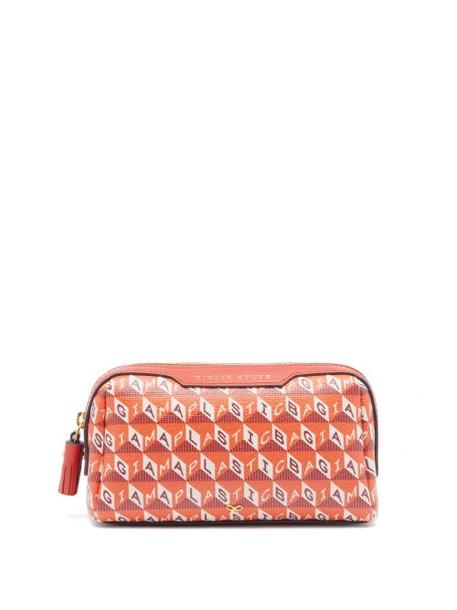 Anya Hindmarch - I Am A Plastic Bag Girly Stuff Make-up Bag - Womens - Orange Multi