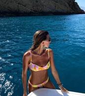 swimwear,colorful,neon,bikini top,bikini bottoms,bikini