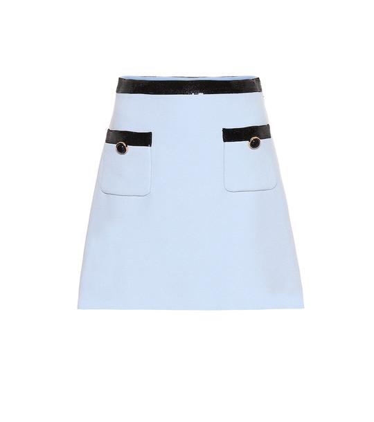 Miu Miu Sequined cady miniskirt in blue