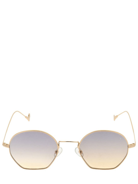 EYEPETIZER Triomphe Round Sunglasses in gold / grey