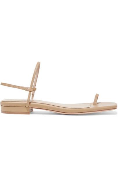 STUDIO AMELIA - Leather Slingback Sandals in sand