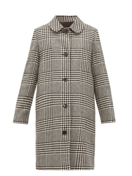 A.P.C. A.p.c. - Peel Single Breasted Houndstooth Wool Coat - Womens - Black White