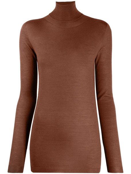 Fabiana Filippi roll neck jumper in brown