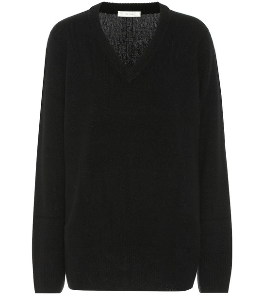 The Row Elaine wool and cashmere sweater in black