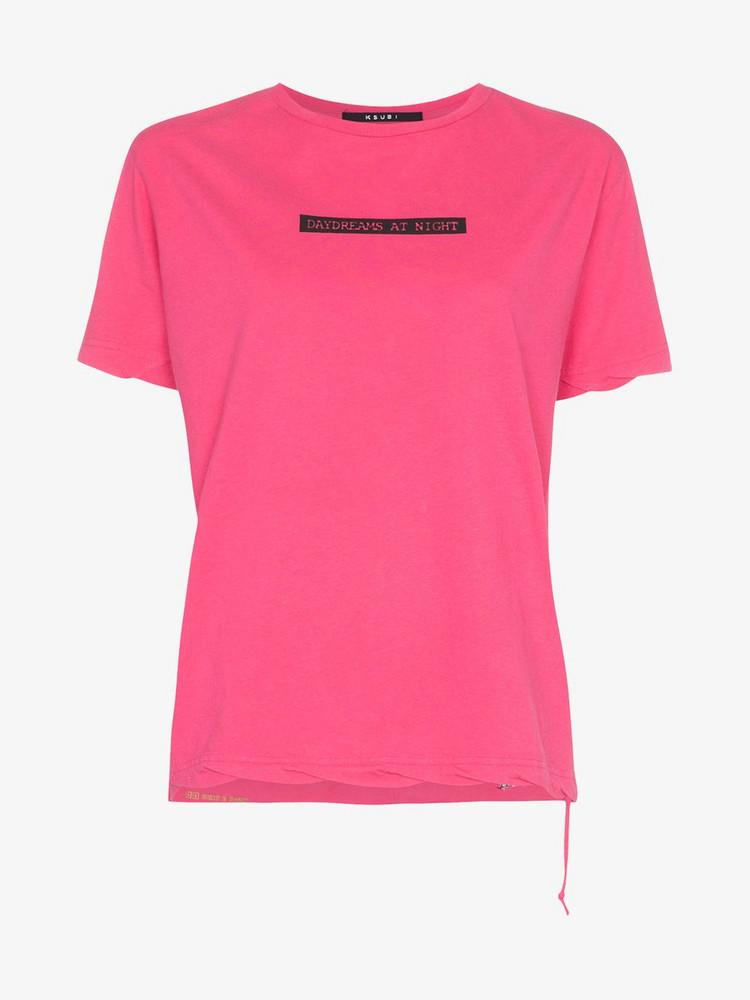 Ksubi day dreams cotton T-shirt in pink