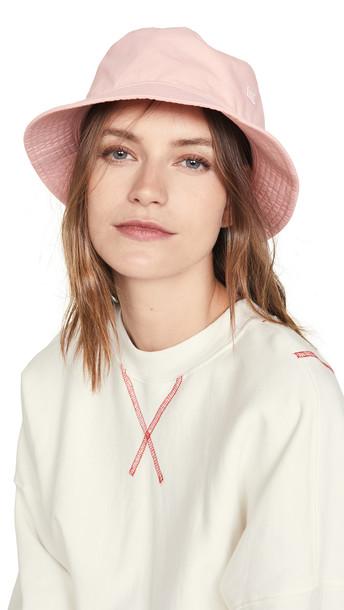 Acne Studios Buk Face Co Tw Bucket Hat in pink