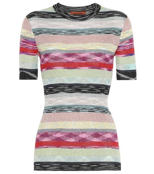 Missoni Striped metallic top
