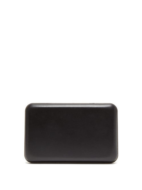 The Row - Moulder Leather Clutch - Womens - Black