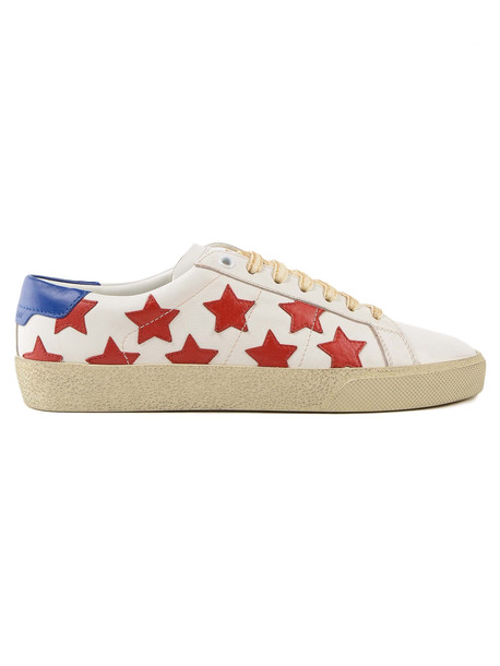 Saint Laurent Star Sneaker in white / multi