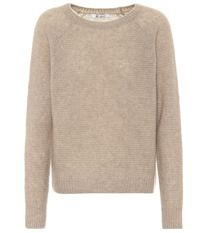 Max Mara Satrapo cashmere and silk sweater in beige
