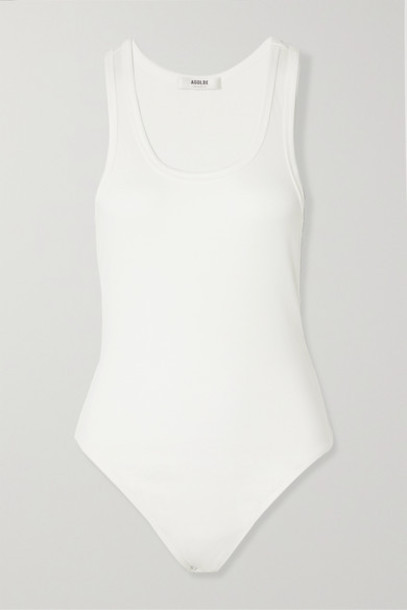 AGOLDE - Ribbed Stretch-jersey Bodysuit - White