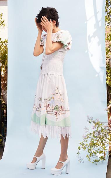 nevenka Deep Into Her Eyes Dress in white