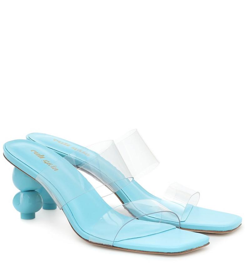 Cult Gaia Suri PVC sandals in turquoise