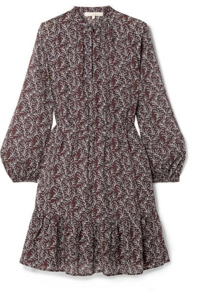 Vanessa Bruno - Manuela Printed Seersucker Mini Dress - Purple