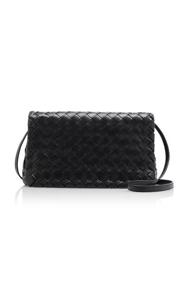 Bottega Veneta New Olympia Intrecciato Leather Clutch in black