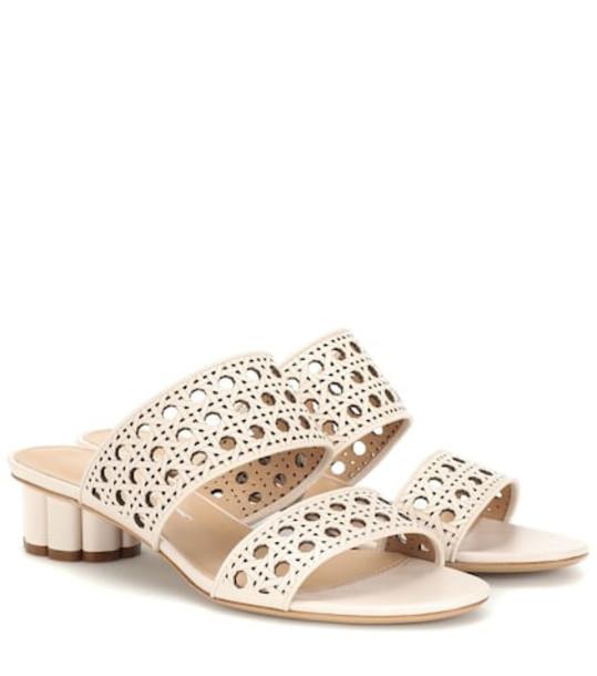 Salvatore Ferragamo Leather sandals in white