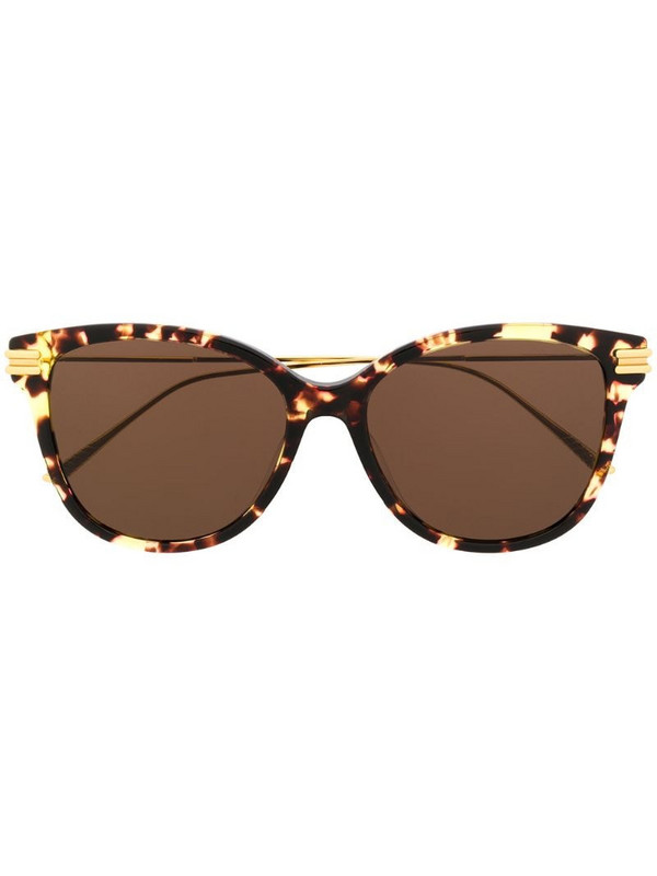 Bottega Veneta Eyewear tortoiseshell effect round sunglasses in brown