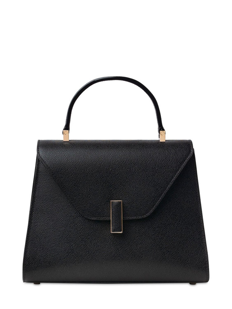 VALEXTRA Medium Iside Soft Grained Leather Bag in black