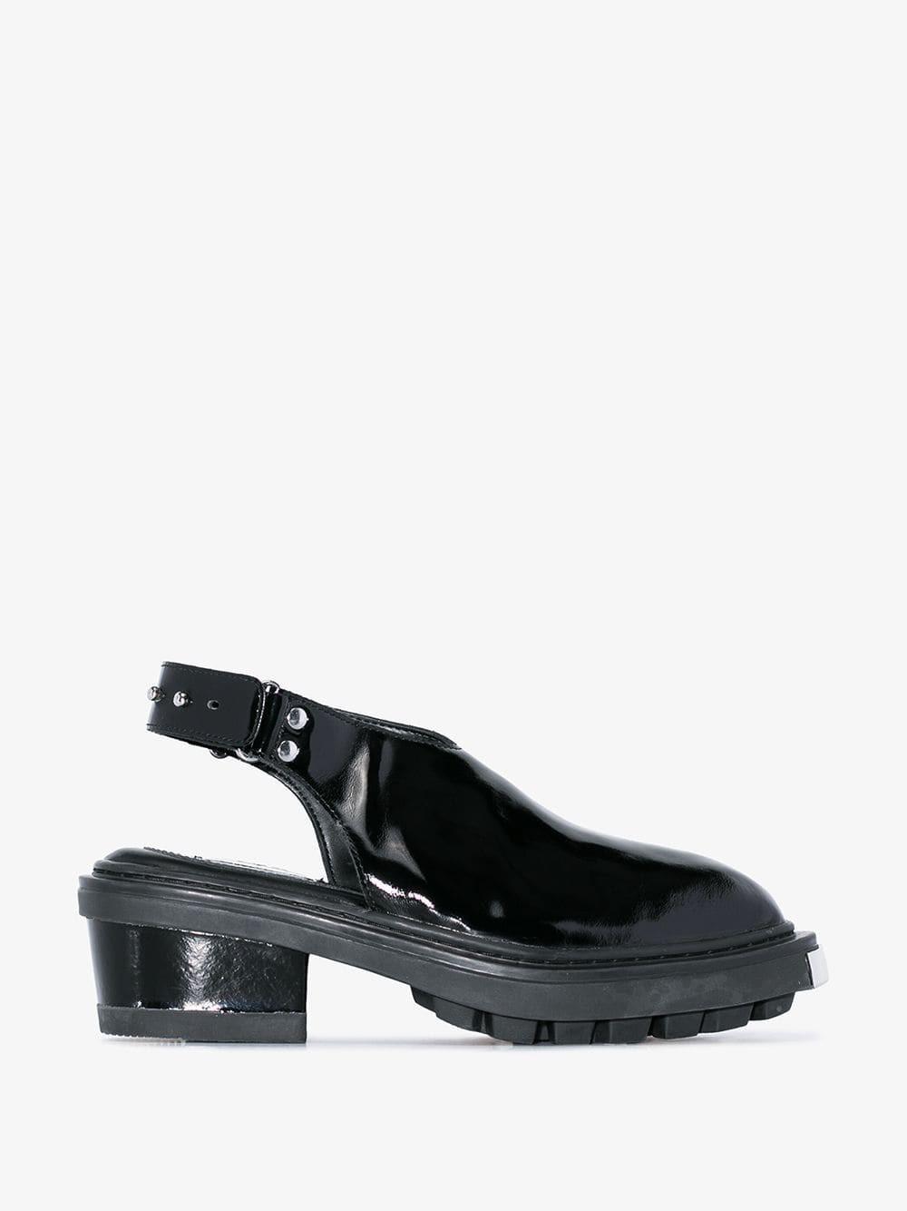 Eytys Carmen patent slingback pumps in black