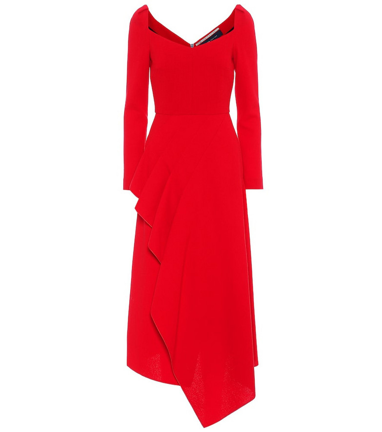 Roland Mouret Blackwater wool-crêpe dress in red
