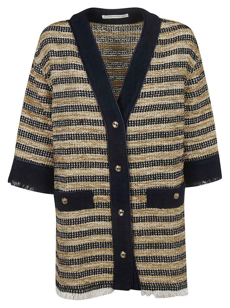 Alessandra Rich Knitted Jacket in black / gold