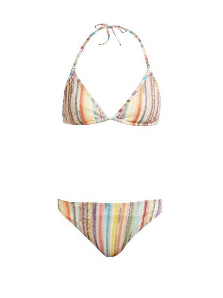 Missoni Mare - Striped Knitted Mesh Bikini - Womens - Multi
