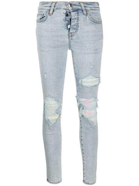 AMIRI ripped skinny jeans in blue