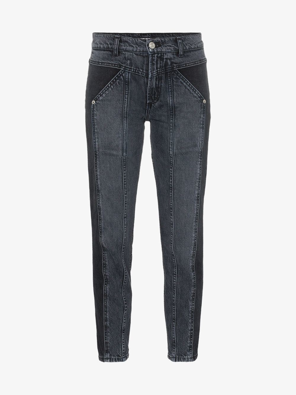 Adaptation Rider two-tone skinny jeans in black