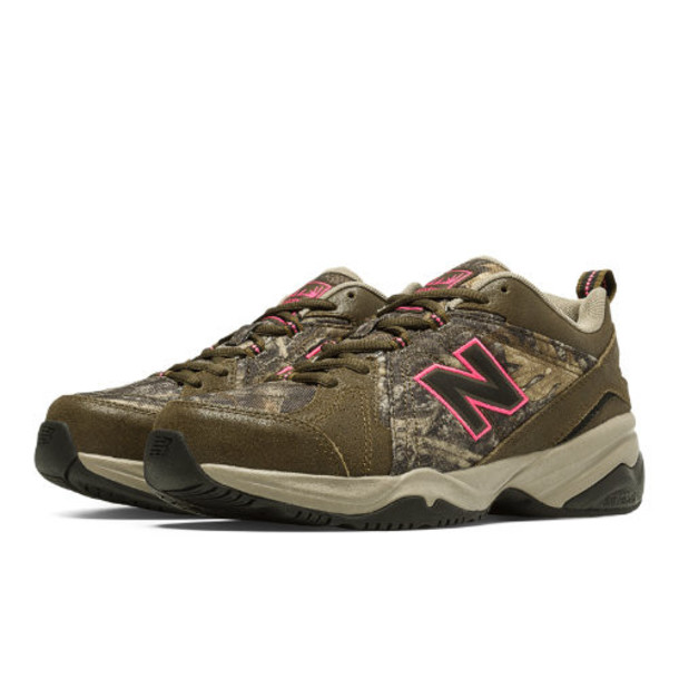 New Balance 608v4 Women's Everyday Trainers Shoes - Brown/Tan/Pink Glo (WX608V4C)