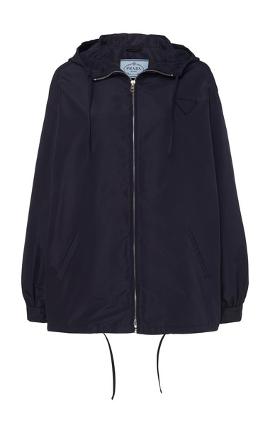 Prada Buttoned Silk Jacket in blue